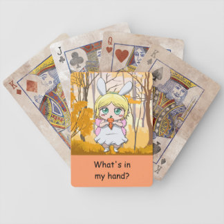 What's in my hand? Pack of cards