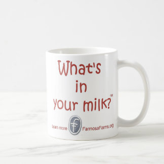 What's in your Milk? Basic White Mug