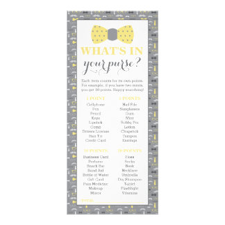 What's In Your Purse? Baby Shower Game, Little Man Full Color Rack Card