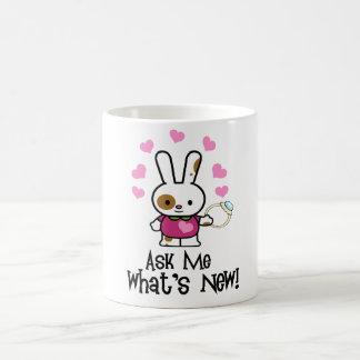 What's New? CUTE Engagement Bunny Basic White Mug
