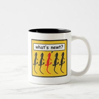 What's newt? Two-Tone mug