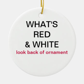 What's Red & White Switzerland Flag Ornament