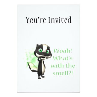 Whats That Smell Skunk 13 Cm X 18 Cm Invitation Card