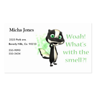 Whats That Smell Skunk Business Card Templates