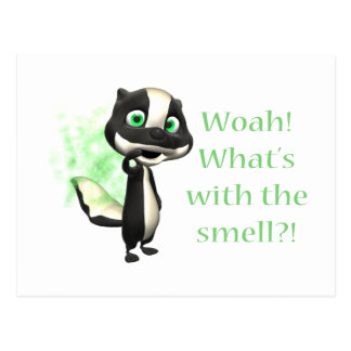 Whats That Smell Skunk Postcard