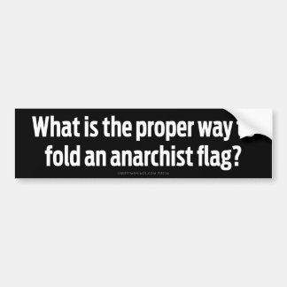 What's the Proper Way To Fold An Anarchist Flag? Bumper Stickers
