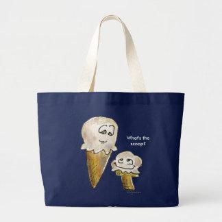 What's the Scoop Ice Cream Cones Tote Bag
