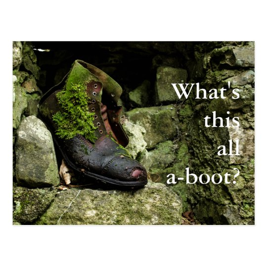 What's this all a-boot? postcard image