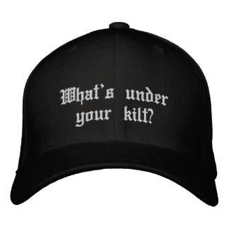 What's under your kilt? baseball cap