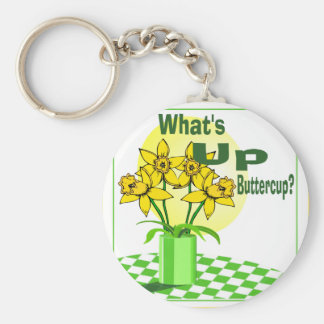 Whats Up Buttercup Key Ring