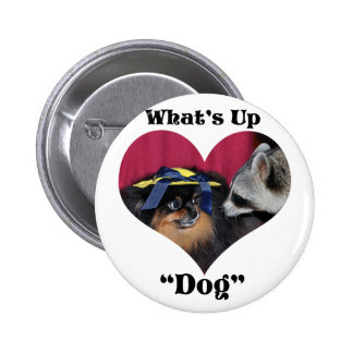 What's Up Dog 6 Cm Round Badge