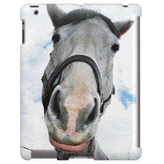 What's up? Friendly Curious White Horse iPad Case