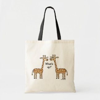 What's up? Giraffe totebag