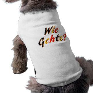 What's Up Sleeveless Dog Shirt
