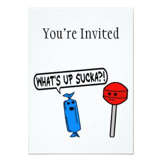 What's Up Sucka 13 Cm X 18 Cm Invitation Card