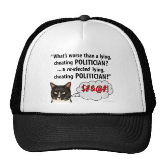What's worse than a Lying, Cheating Politician? Mesh Hats