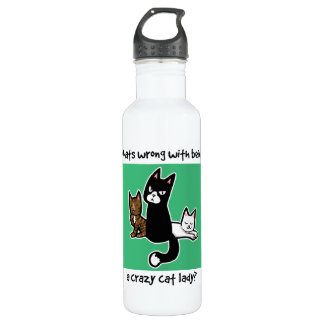 Whats wrong with being a crazy cat lady 710 ml water bottle