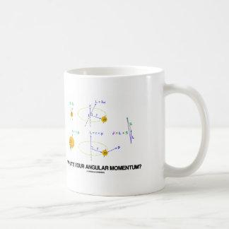 What's Your Angular Momentum? (Physics Diagrams) Basic White Mug