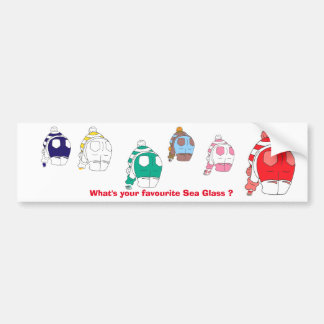 What's your favourite sea glass? bumper sticker