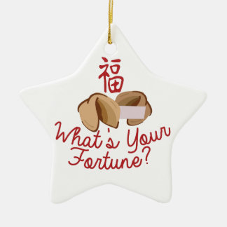 Whats Your Fortune Ceramic Star Decoration