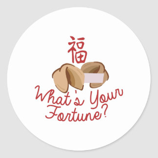 Whats Your Fortune Round Sticker