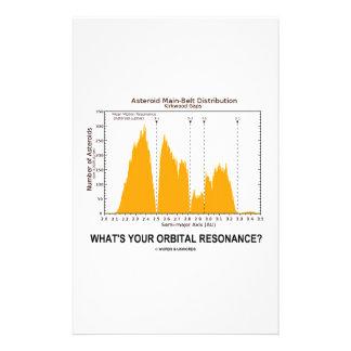 What's Your Orbital Resonance? (Astronomy Humor) Customized Stationery