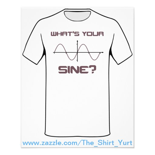 What's Your Sine Nerdy Pick Up Line Personalized Flyer