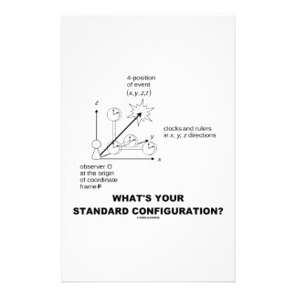 What's Your Standard Configuration? (Physics) Customised Stationery