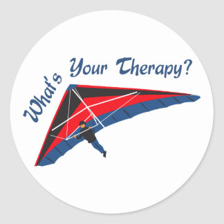 Whats Your Therapy Round Sticker