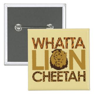Whatta TIGER! 15 Cm Square Badge