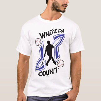 WHAT'Z DA COUNT BASEBALL LOGO WITH IMAGE T-Shirt