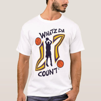 WHAT'Z DA COUNT BASKETBALL LOGO WITH IMAGE T-Shirt