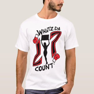 WHAT'Z DA COUNT BOXING LOGO WITH IMAGE T-Shirt
