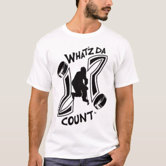 WHAT'Z DA COUNT HOCKEY LOGO WITH IMAGE T-Shirt