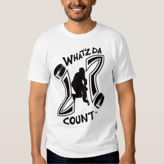 WHAT'Z DA COUNT HOCKEY LOGO WITH IMAGE T-SHIRTS