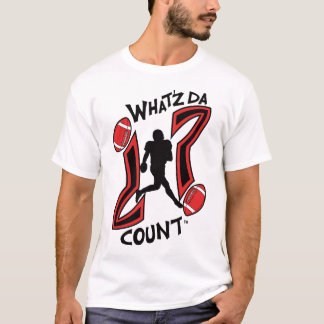WHAT'Z DA COUNT MEN'S FOOTBALL LOGO WITH IMAGE T-Shirt
