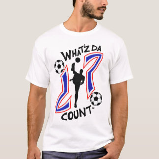WHAT'Z DA COUNT MEN'S SOCCER WITH IMAGE T-Shirt