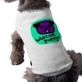 Whazzup, Puppy? With Cute Puppy Face Sleeveless Dog Shirt