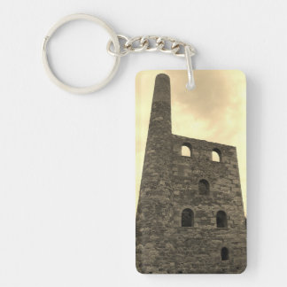 Wheal Peevor Cornish Tin Mine Photograph Key Ring