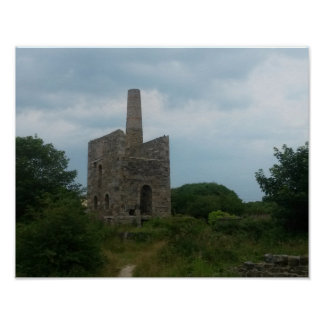 Wheal Peevor Cornish Tin Mine Photograph Poster