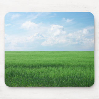 Wheat Blue Sky Mouse Pad