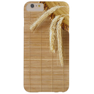 Wheat Ears On Wooden Plate Barely There iPhone 6 Plus Case