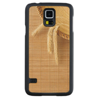 Wheat Ears On Wooden Plate Carved Maple Galaxy S5 Case