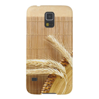 Wheat Ears On Wooden Plate Galaxy S5 Covers