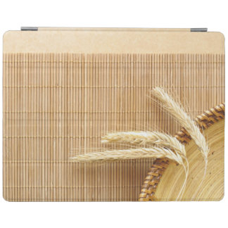 Wheat Ears On Wooden Plate iPad Cover