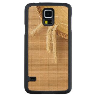 Wheat Ears On Wooden Plate Maple Galaxy S5 Slim Case