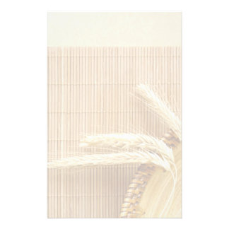 Wheat Ears On Wooden Plate Stationery