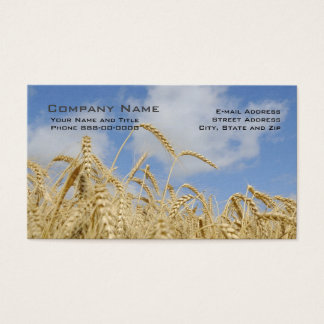 Wheat Farmer Business Cards