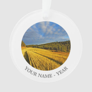 Wheat Field After Harvest 2 Ornament
