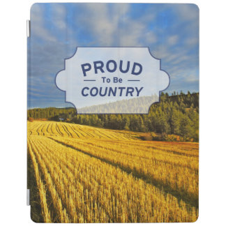 Wheat Field After Harvest iPad Cover